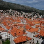 The roofs of Dubrovnik old town