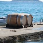 Wine barrels in the sun