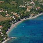 Trstenica beach from above